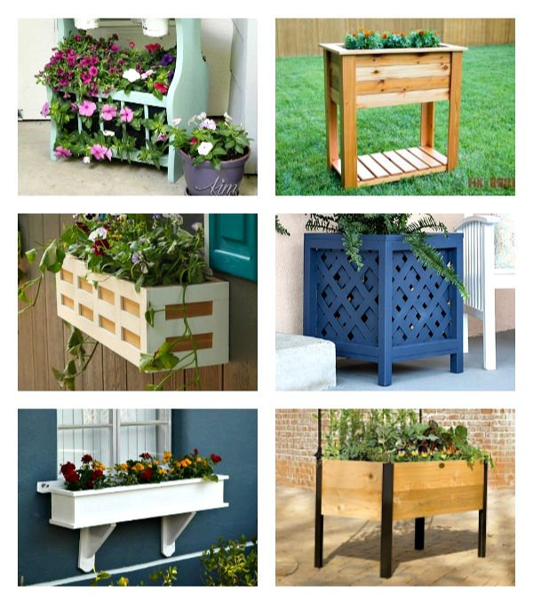Looking for curb appeal ideas? Check out this list of Outdoor Planter Ideas for your Porch with beautiful planters you can DIY, upcycle, or buy.