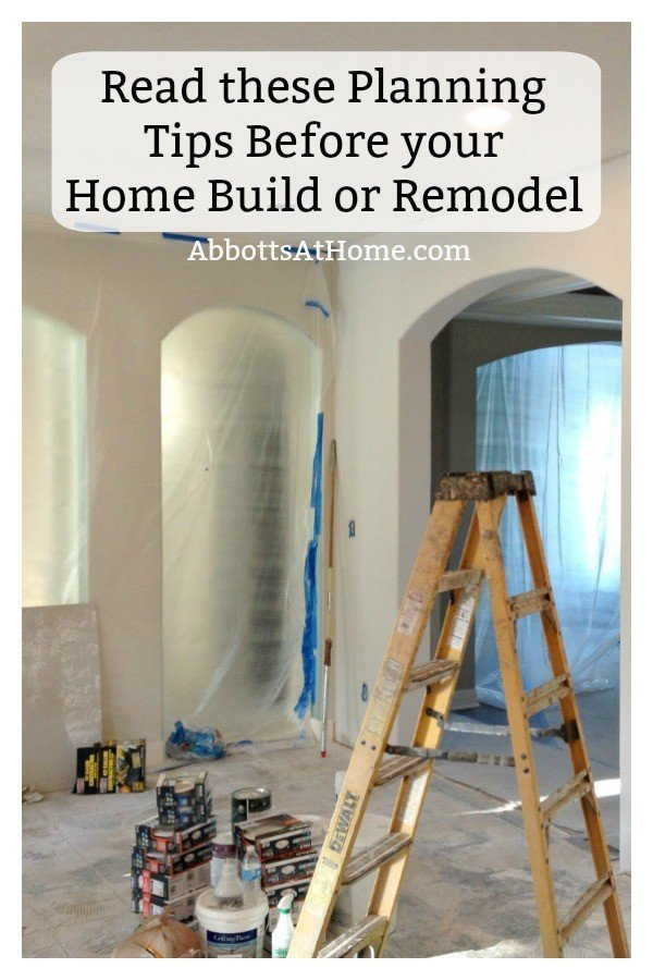 80+ tips and planning questions to think about before planning a new home build or home remodel on a room in your house. Tips for Planning and Building a New House or planning a room remodel.