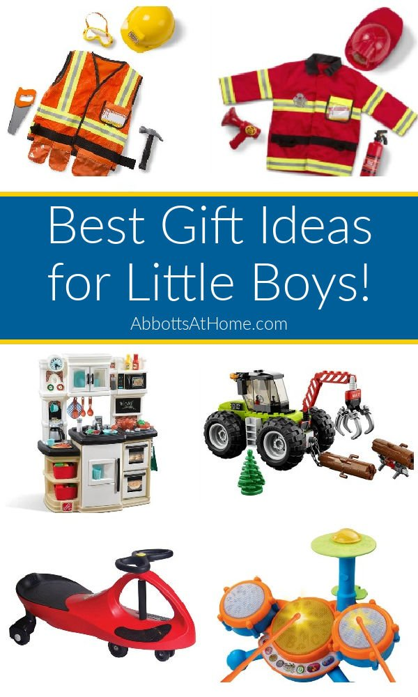 Here's my big list of Best Gift Ideas for Little Boys. These are the toys my kids actually play with, all the time. Plus, 5 gift fails! Best play toys, STEM toys, art kits, drones, musical instruments, puzzles, and more gift ideas for little boys and little girls.