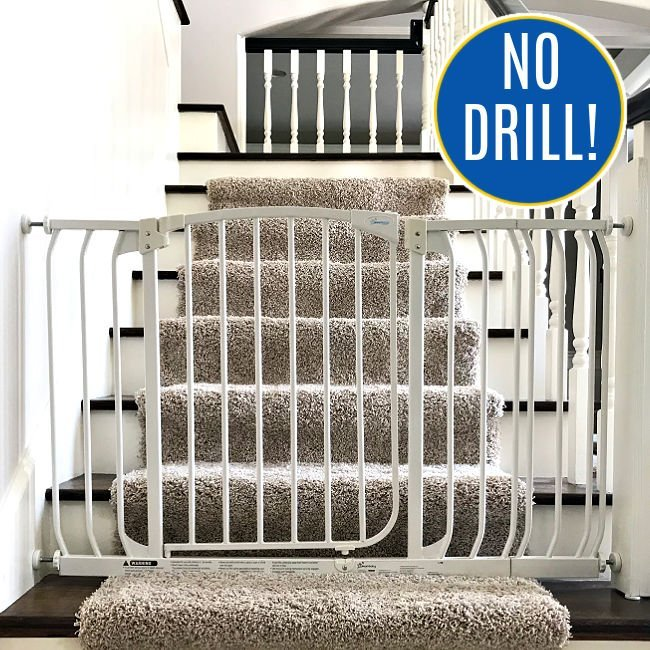 DIY Baby Gate Hack for Stairs - No Drill