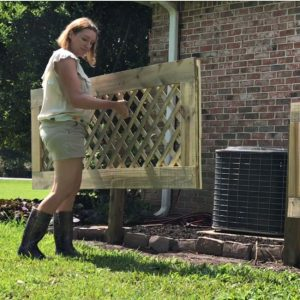 How to build removable panels to hide your AC, boats, RV's, or anything unsightly in your yard. Build removable air conditioning screens.