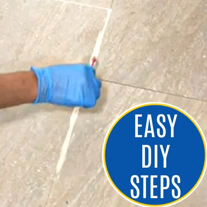 How to Whiten Grout with a quick and easy DIY Grout Renew.