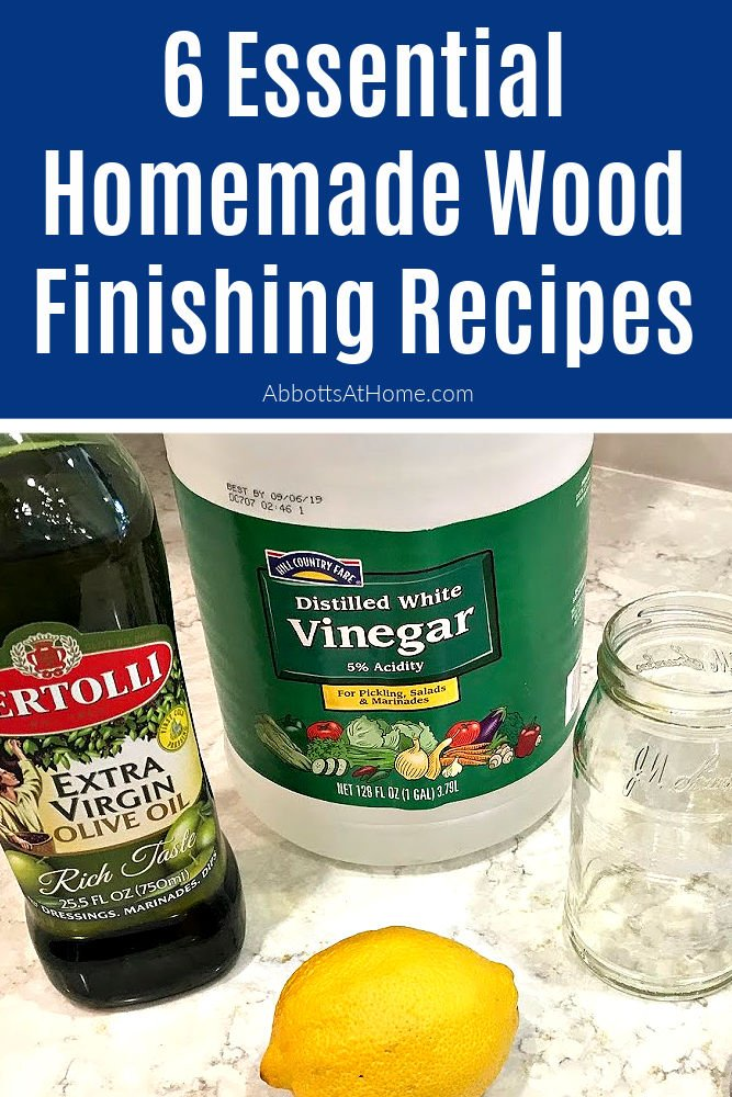 My 6 favorite Homemade Wood Finishing Recipes: DIY Wood Cleaner, Wood Stain, Whitewash, Chalk Paint, Furniture Wax, & Chalk Board Paint.