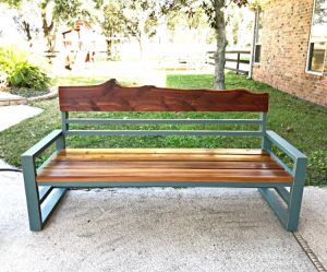 Here's the easy to follow build steps, printable plans, and how-to video for this beautiful DIY Outdoor Sofa from 2x4 Pine Lumber with Cedar. Wood outdoor sofa or bench with a back woodworking plans.