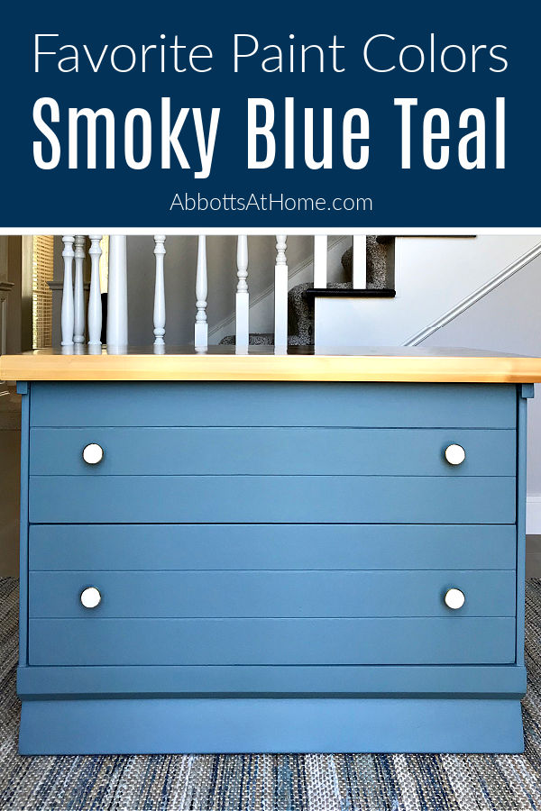 Give your boring furniture a beautiful new look with these Easy DIY Furniture Redo steps. Using the best Smoky Blue Paint Color I've tried - Magnolia Homes by Kilz Paint Color is Demo Day.