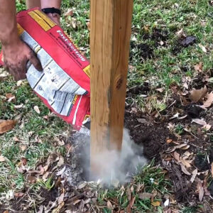 How to set wooden fence posts in concrete - written steps & a quick video to help you DIY your own Three Rail or any other wooden fence style.