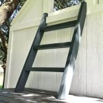 Here's my quick and easy DIY steps for How to Build a Small Step Ladder from 2x4's for your playhouse, loft, bunk bed, or anywhere.