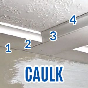 Here's a quick guide and video for where to use Caulk or Wood Filler on any wood trim, baseboards, crown moulding, and wainscoting in your home. Includes answers to these questions: How do you fill gaps in wood trim? What is the best product to fill nail holes in trim? Is it better to use wood filler or caulk?