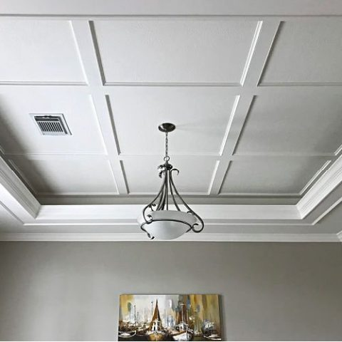 Try This Simple Diy Coffered Ceiling Design Abbotts At Home