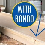 Here's my easy to follow guide for mixing and using Bondo All Purpose Putty to fix damaged wood furniture or new woodworking projects. Written steps and video to show you how to repair wood furniture damage, fix woodworking projects, or patch home decor with Bondo All Purpose Putty.