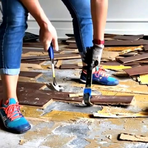 How To Remove Glued Wood Flooring On