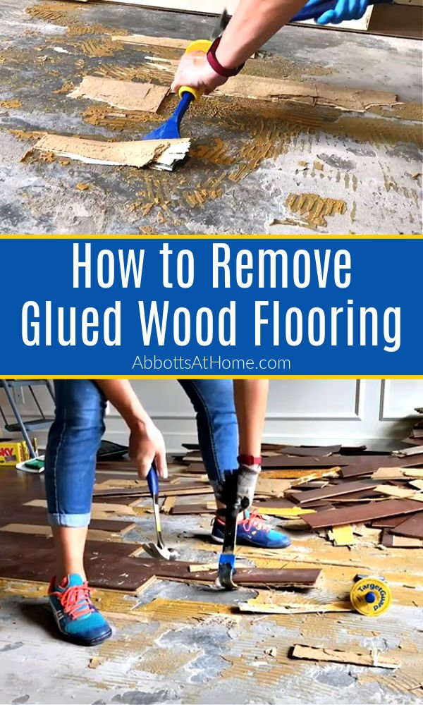 DIY tips and video showing How to Remove Glued Wood Flooring or Engineered Wood Flooring and Flooring Adhesive on Concrete. DIY Steps and How To Video showing how to remove glued wood flooring on concrete and how to remove adhesive on concrete floors. How to scrape glue off concrete floors.