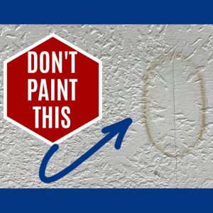 Quick and easy written steps and video for How to Fix Water Stains on Ceiling Leaks without paint. In just a few minutes, get rid of most water stains.