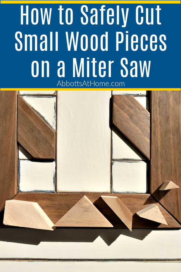 4 Tips and Techniques for How to Safely Cut Small Wood Pieces on a Miter Saw. I have 4 Tips and Techniques for How to Safely Cut Small Wood Pieces on a Miter Saw. Including, an easy way to cut small pieces of wood even smaller without making a jig. Beginner Woodworking Tips. Miter Saw Tips.