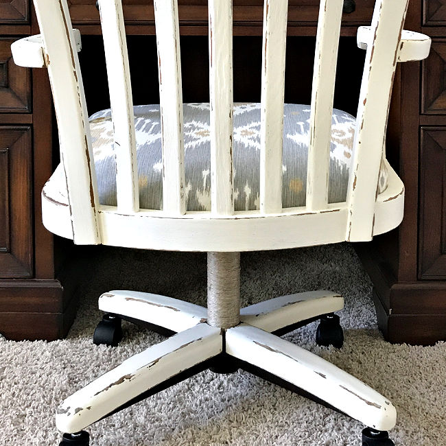 DIY White Distressed Chalk Paint