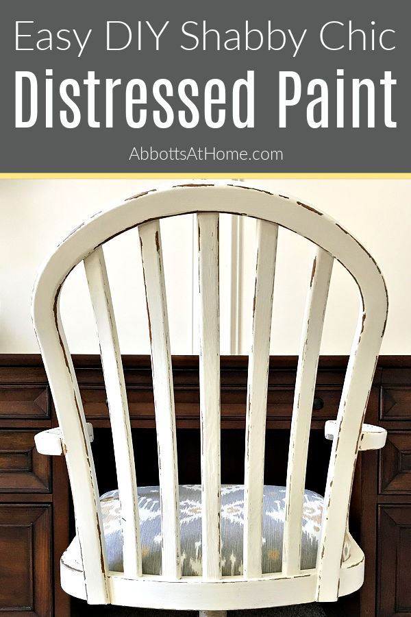 Easy to follow steps for this beautiful DIY White Distressed Chalk Paint Furniture Makeover. I am loving this Shabby Chic look on this Chair! White Chalk Paint Furniture Makeover with distressing.