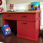 Quick and easy DIY red painted furniture makeover steps - no primer or top coat required. And, this red paint color is A-mazing! Step by step tutorial - how to paint furniture the perfect shade of red. Red Chalk Paint Furniture.