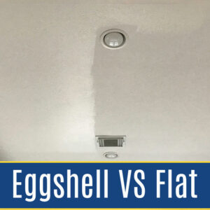 5 before & after examples from my home of the best paint sheen on ceilings. Throw out those old painting rules to get a more beautiful room. Eggshell vs flat paint sheen on ceilings.