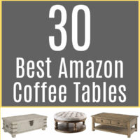 Here's my top picks for the 30 Best Amazon Coffee Tables for any Living Room. Includes coffee tables for small spaces, to play board games or eat on, coffee tables for storage, and coffee tables that would work for sectionals.