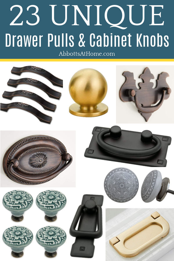 It can be hard to find unique drawer pulls & knobs. So, I put together this list of absolutely beautiful & unique hardware finds on Amazon! Beautiful cabinet knobs and drawer pulls for furniture, kitchen, or bathrooms - you won't find in most stores.