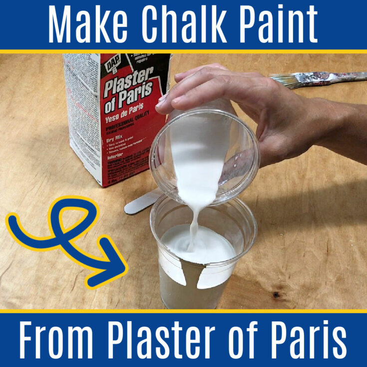 I LOVE this DIY! Here's How to Make Chalk Paint with Plaster of Paris - it's easy, it saves money and you can make the exact color you want. Homemade chalk paint recipe with FAQ's answering the most common questions.