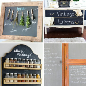 Here's my top picks for the Best DIY Projects Using Chalkboard Paint for your home. I LOVE these ideas!