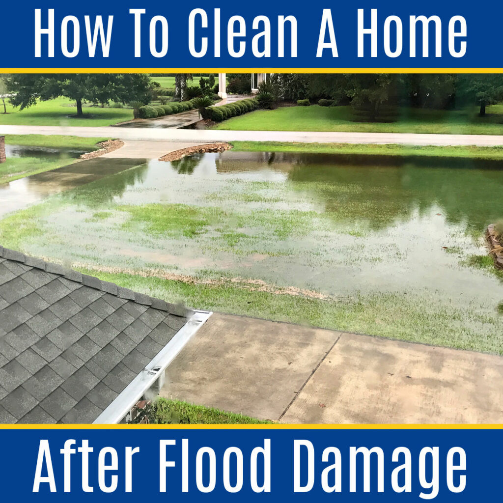 Complete guide to safely cleaning your home after it floods. Don't make any costly mistakes! After Hurricane Harvey, we learned a lot about safely cleaning flood damage. Here's our How to Clean Up your Home after Flood Damage guide!