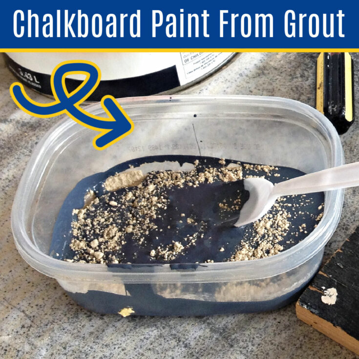 Make low cost, durable chalkboard paint in any color with this easy 2-step DIY recipe. Here's how to make chalkboard paint with grout!