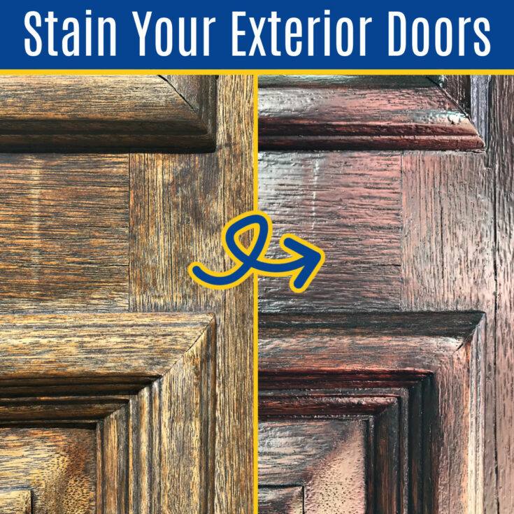I've found the quickest, Best Way to Stain Exterior Wood Door! Using an easy to apply Gel Stain that always look beautiful on any front door. How to Stain Over Old Stain on a Door.