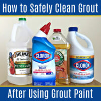 Did you know that some cleaners can ruin your grout paint/sealer? Here's how to safely clean grout after using grout paint & grout sealers.