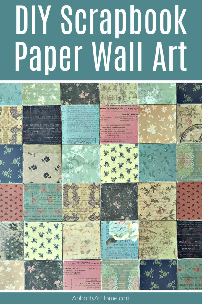 I LOVE this easy craft project idea! Make your own beautiful, framed, & easy DIY Scrapbook Paper Wall Art with Mod Podge & Craft Wood Squares.
