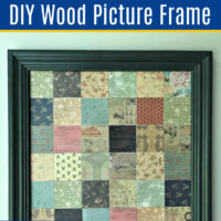 How to Make a Wood Picture Frame - The EASY Way! With just 2 pieces of molding and a Miter Saw. With Easy to Follow Steps and Video Guide.