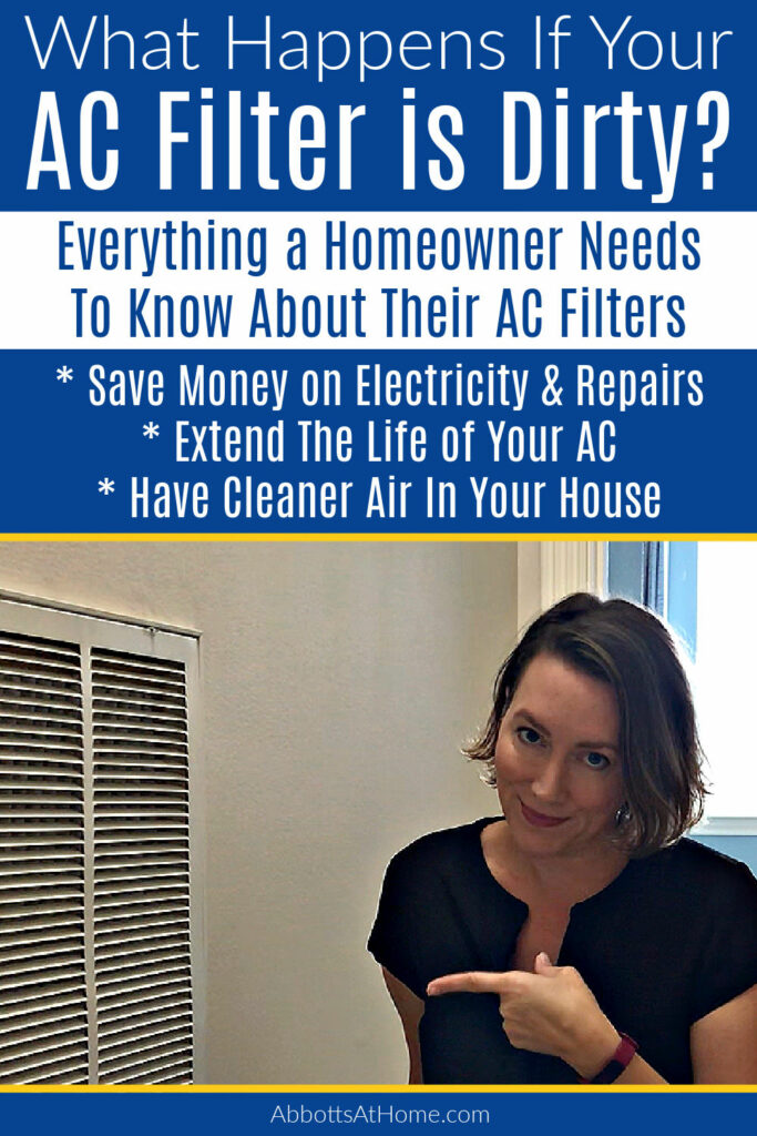 What happens if your AC filter is dirty? A dirty filter can cost a lot of money if left too long. Be sure keep that filter clean! HERE'S WHY.