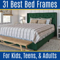Are you looking for BEAUTIFUL & AFFORDABLE bed frames online? I can help! Here's the 30 Best Amazon Bed Frames for Kids, Teens, & Adults.