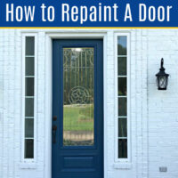 Can you repaint a door without removing it? Yes! But you need the right weather & paint. Here's the steps to get huge curb appeal in 1 day.